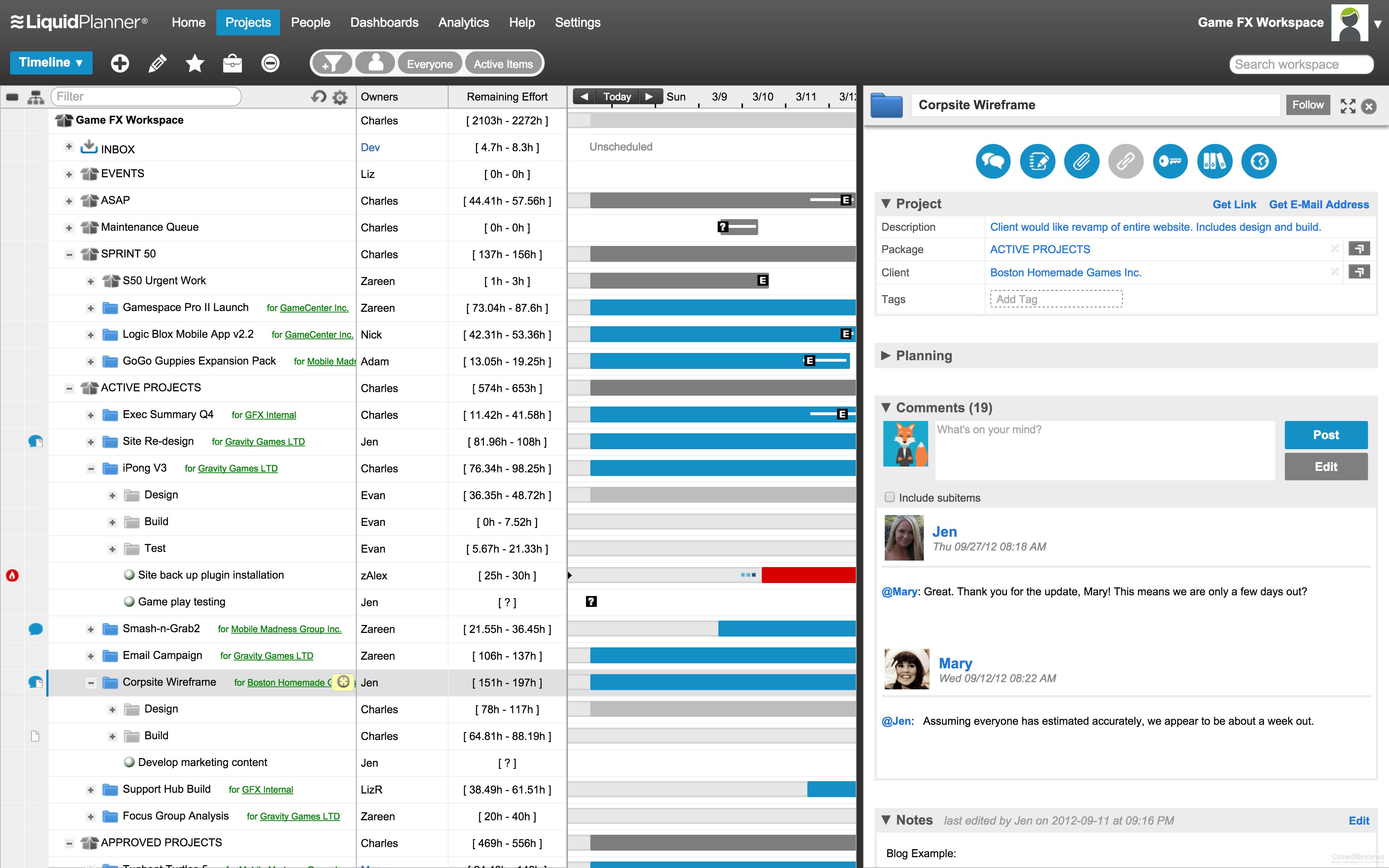 Liquidplanner Product Info Liquidplanner Screenshots