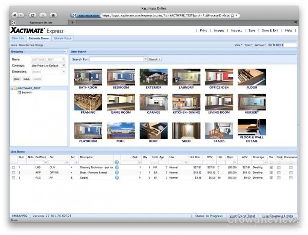 Xactimate Product Info : Xactimate Screenshots : Xactimate
